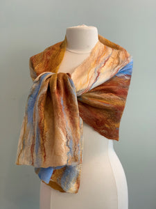 109 Shawl Arizona Sunset Merino Wool