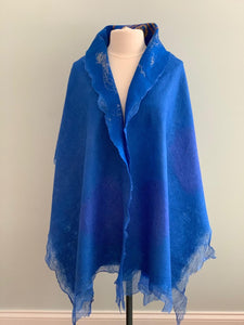 Royal Blue Shawl Z223