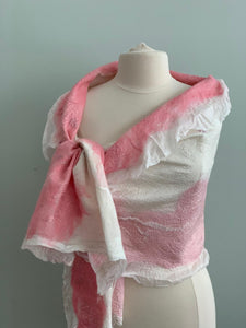 510 Shawl Pink and White Shawl