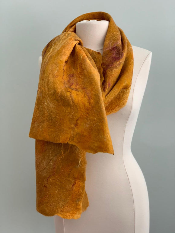 gold and copper merino wool
