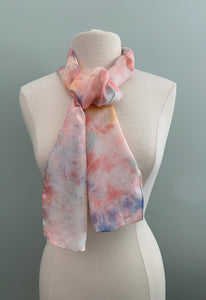 coral and blue scarf
