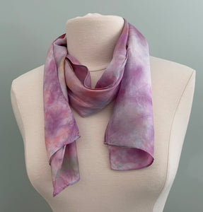 purple silk scarf