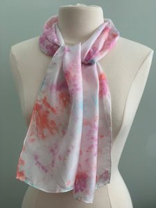 pink, and blue silk scarff