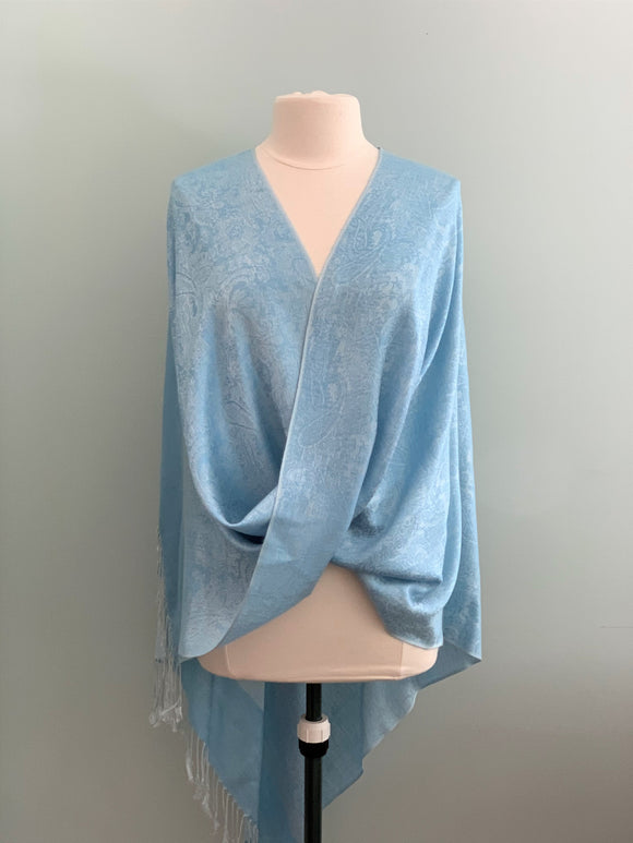 103 Light Blue Pashmina Tiffany Cape
