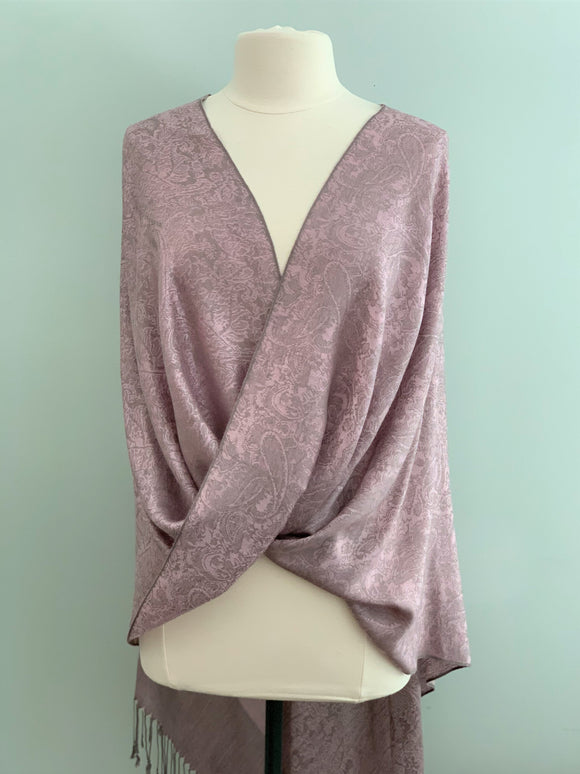 105 Lavender and Grey Tiffany Cape