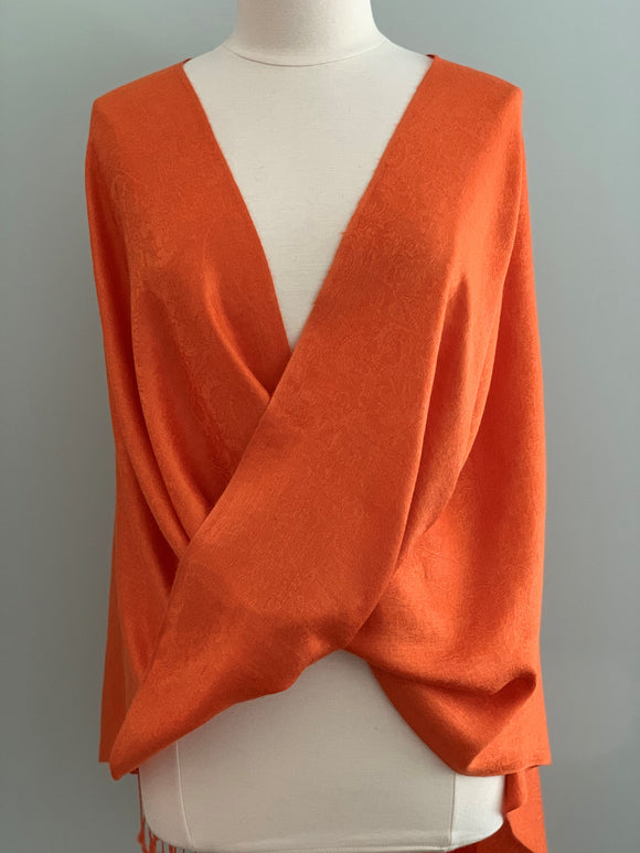 118 Orange Pashmina Tiffany Cape