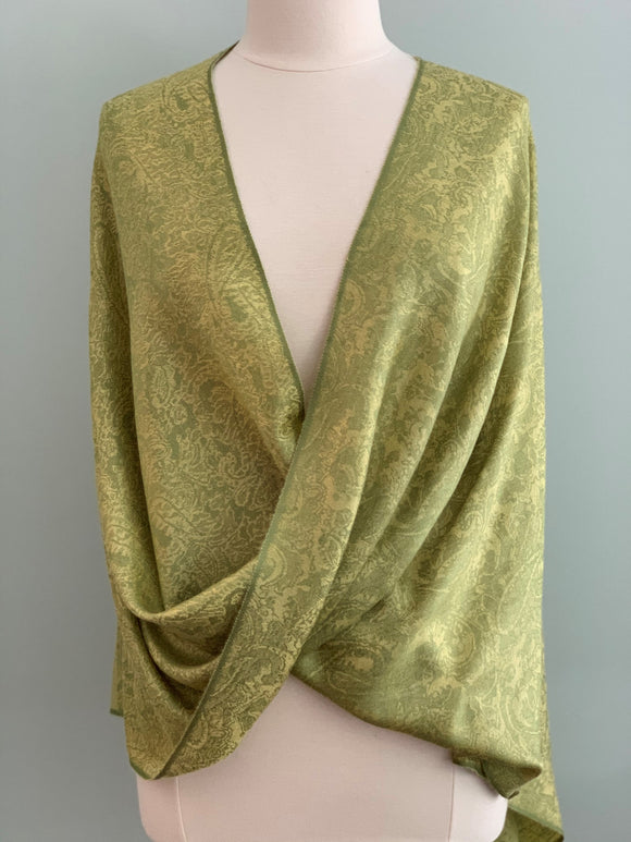 119 Green Pashmina Tiffany Cape