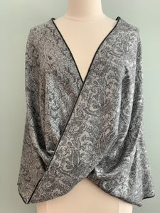 Black and Grey Pashmina Tiffany Cape 120