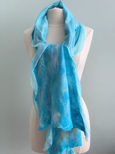 118 Shawl Turquoise Shawl - Silk and Wool