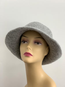 grey large hat