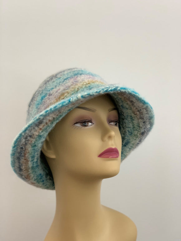 large beautiful blue hat
