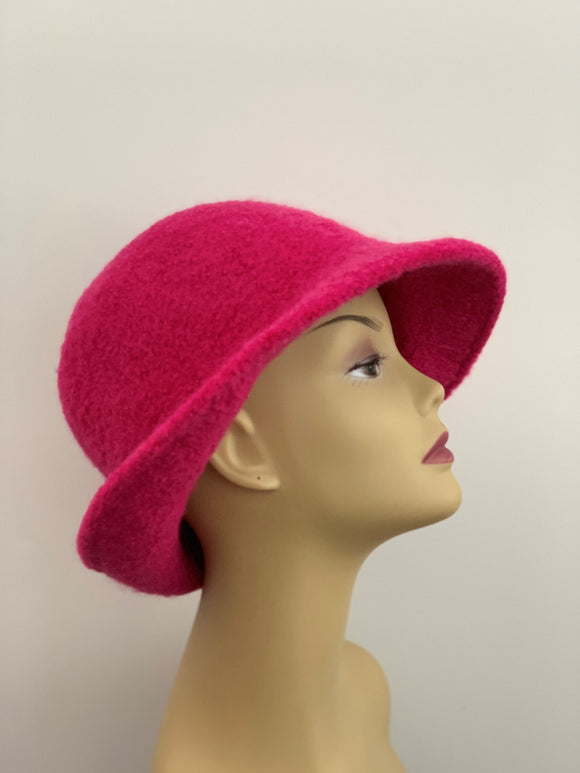 large pink woman's winter hat