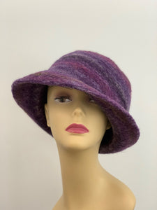 Large Purple Wool Winter Hat