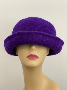 large purple hat