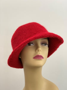 large red wool hat