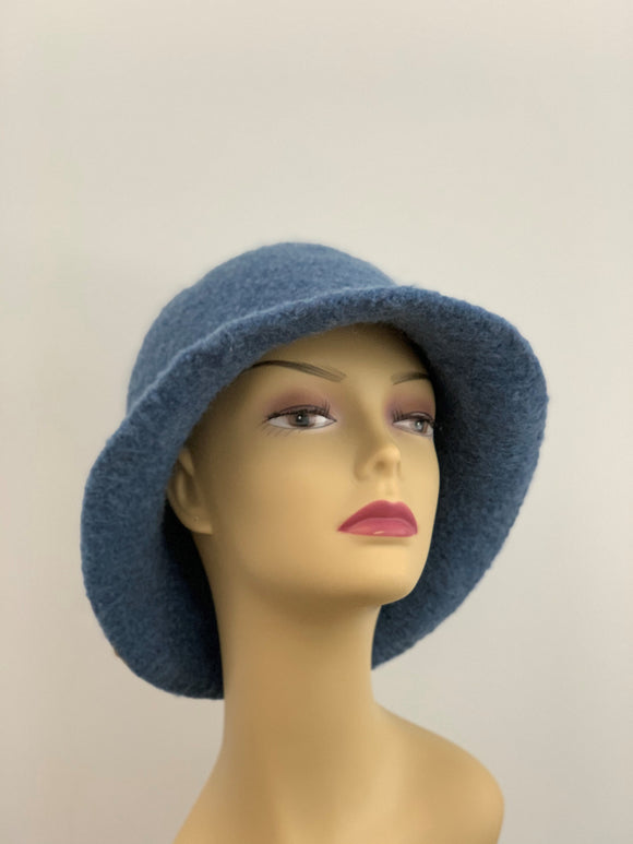 large blue woman's hat