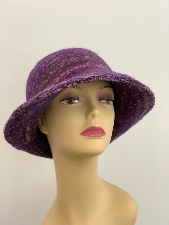 large purple winter hat