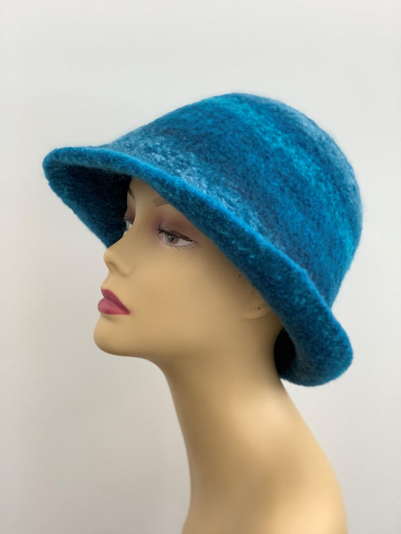 blue wool hat,