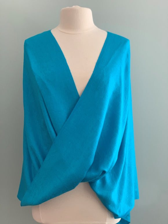 117 Blue Pashmina Tiffany Cape