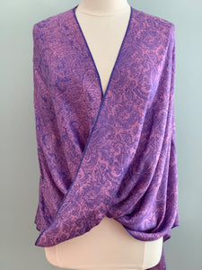 purple and pink pashmina