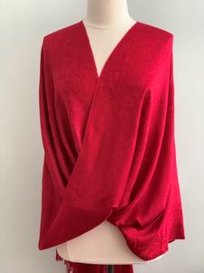Red Pashmina Tiffany Cape