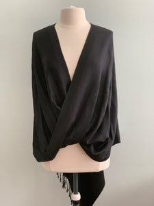 294 Black Pashmina Tiffany Cape