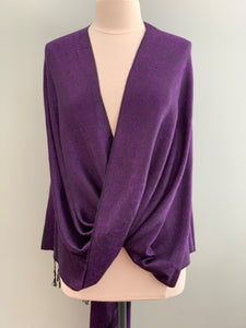 403 Purple and Black Tiffany Cape