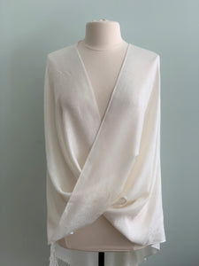 907 White Tiffany Cape