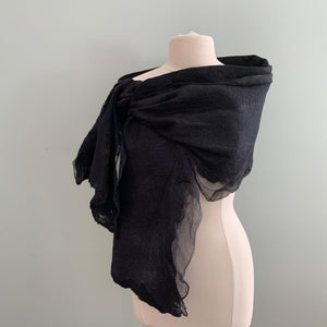 black nuno felted shawl