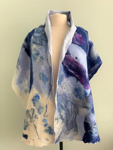 Dare to be Different Blue, White, Purple, Pink Shawl  Y523