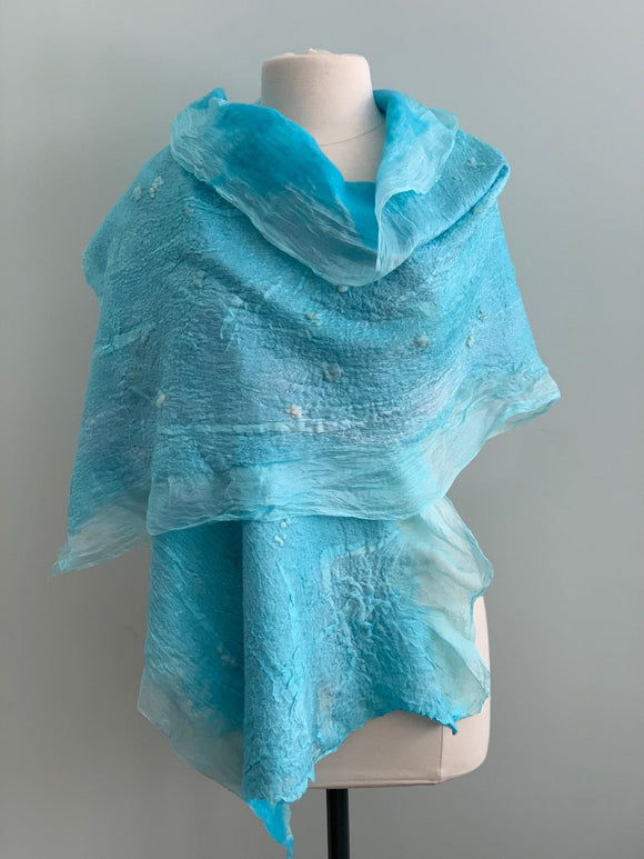 212 Shawl Turquoise Shawl - Silk and Wool