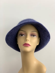 blue grey hat