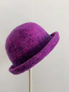 small purple hat