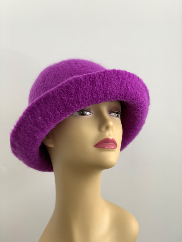amethyst wool hat