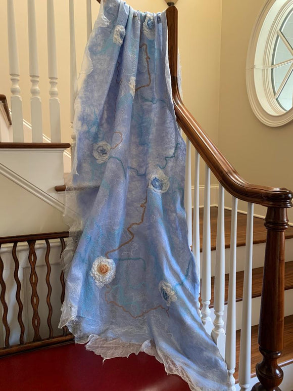 Blue Wedding Shawl