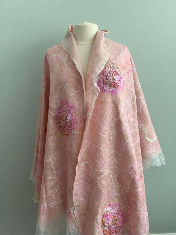 896 Shawl Pink Wedding Shawl | Evening Shawl