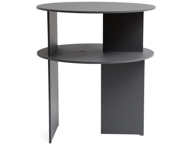 Ben Barber Studio - Sanora Side Table - Matte Textured Basalt Grey
