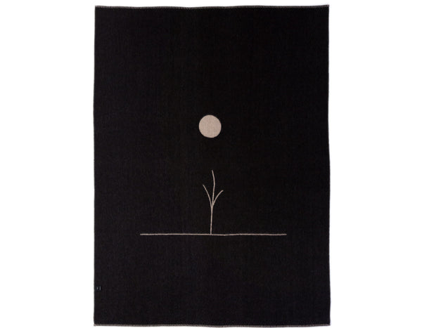 Blacksaw - Midnight Sun Throw - Oatmeal/Heather