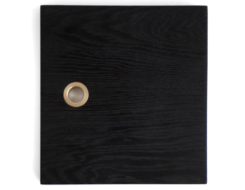 Brett Yarish - Square Board - Ebonized Oak & Brass