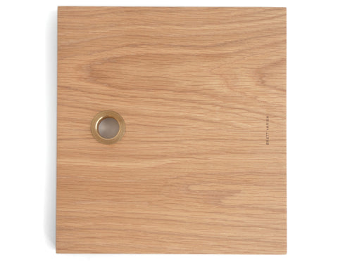 Brett Yarish - Square Board - White Oak & Brass