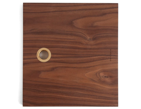 Brett Yarish - Square Board - Walnut & Brass
