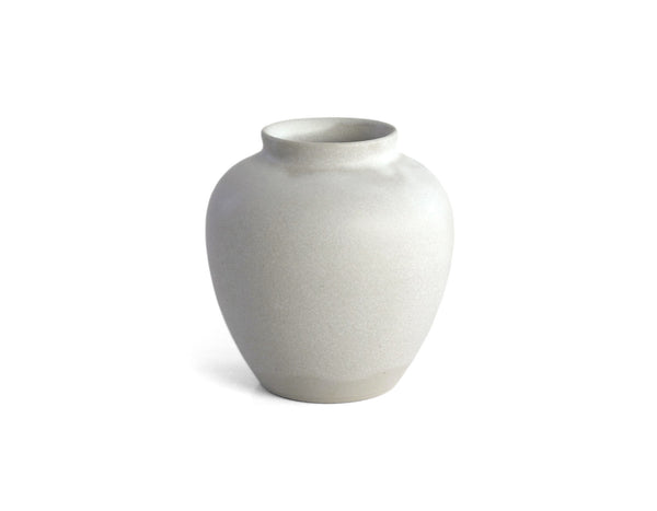 "Christiane Perrochon - Stoneware Flower Vase H4"" - Powder White"