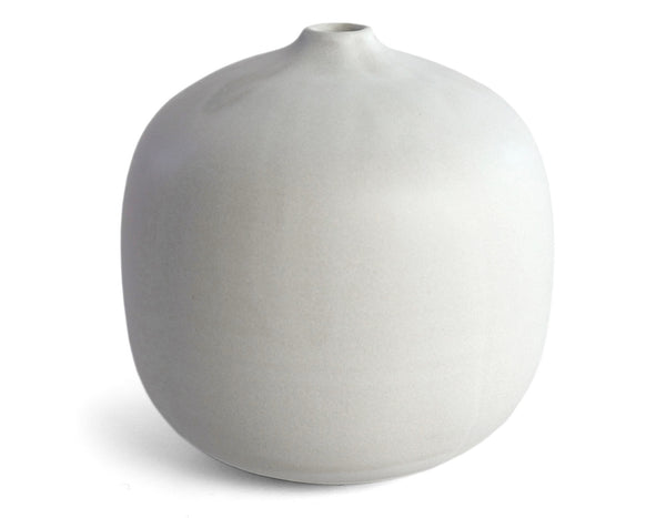 "Christiane Perrochon - Stoneware Flower Vase H6"" - Powder White"