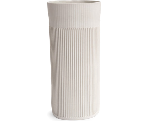 Cym Warkov Ceramics - 04 Textured Vase Tall - White