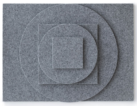 Felt placemats, coasters, trivets light grey | Daff