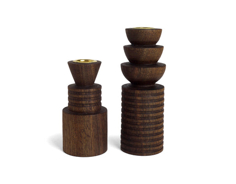 Elise McLauchlan - Candlestick Set Of 2 - Black Walnut