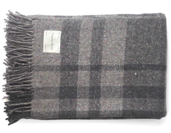 Irish Tweed Blanket Vintage Grey | Forestry Wool