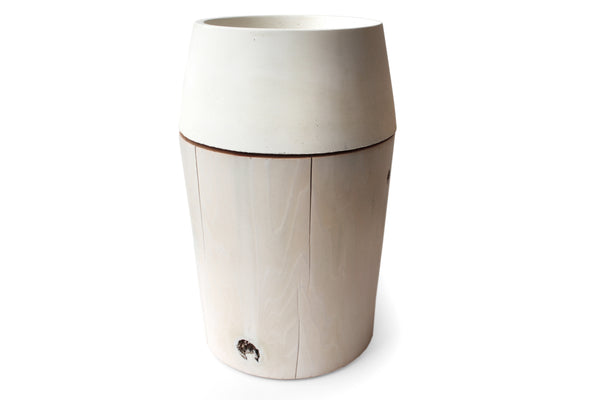 Revolve Planter & Base White | Barter