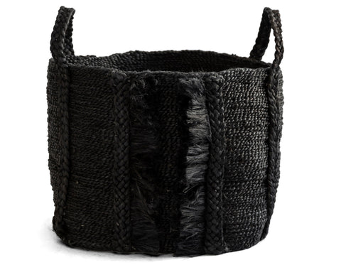 J'Jute - Maya Moon Large Wide Basket - Natural