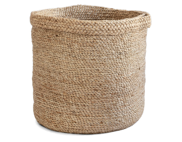 J'Jute - Assembly Round Tall Jute Basket - Natural